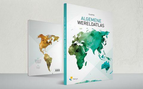 Coverontwerp 'Algemene Wereldatlas' voor Plantyn