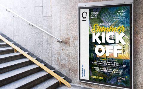 Stad Oostende - Campagne Festival - Affiche Summer Kick-off 2018