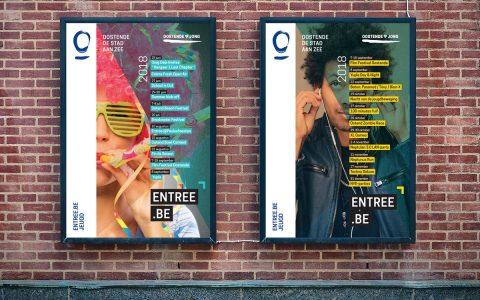 Oostende - Entree zomer en herfst affiche