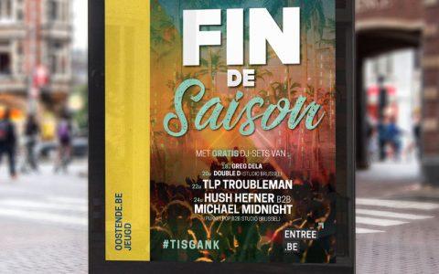 Ontwerp Affiche/flyers Fin De Saison