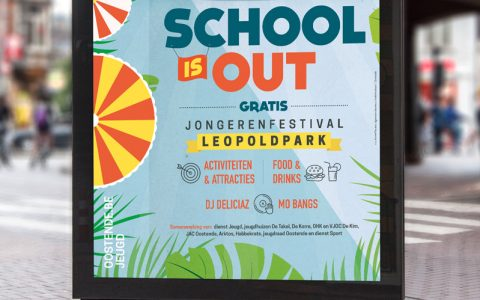Affiche School Is Out - Stad Oostende